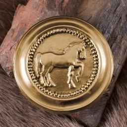 Romeinse phalera paard goudkleurig