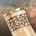 Windlass Steelcrafts Drinking horn Freya with leather holder