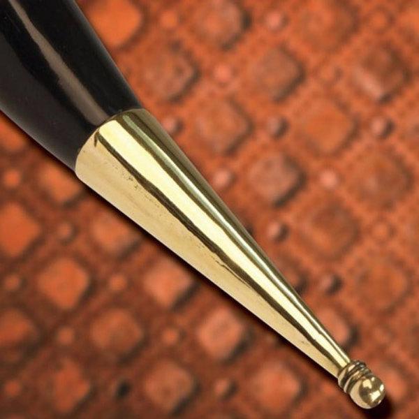 Windlass Steelcrafts Pagan drikkehorn Mabon med læder indehaveren