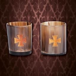 Horn shot glass set Templar
