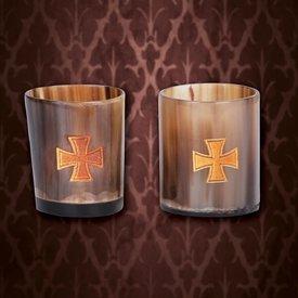 Windlass Horn Schnapsglas gesetzt Templar