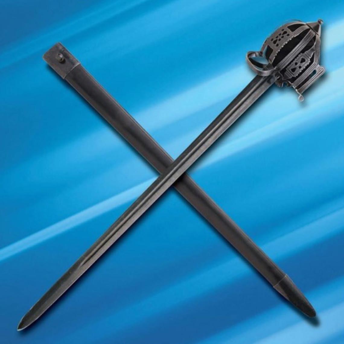 Windlass Steelcrafts Espada escocesa de empuñadura de canasta Culloden