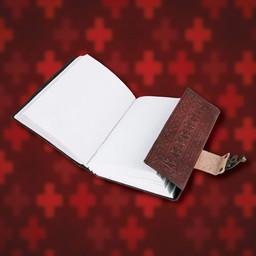 Leather Diary Templar Order with Templar cross