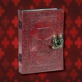 Windlass Steelcrafts Skóra Diary Templar Order z krzyżem Templariuszy