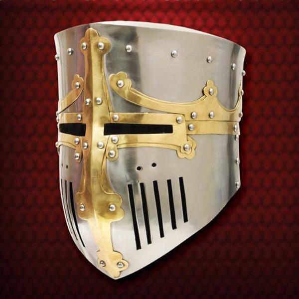 Windlass Medieval bucket helmet Westminster Psalter