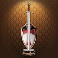 Windlass Steelcrafts Briefopener zwaard Orde van de Tempeliers