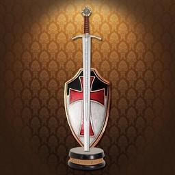 Letter opener sword Knights Templar