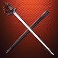 Windlass Steelcrafts Panier Hilt épée mortuaire guerre civile anglaise