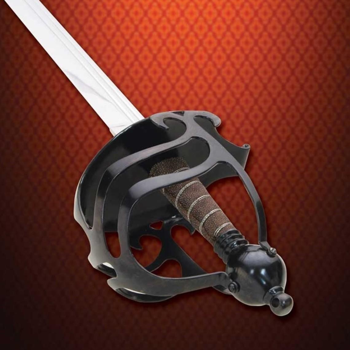 Windlass Steelcrafts Basket hilt mortuary sword English Civil War