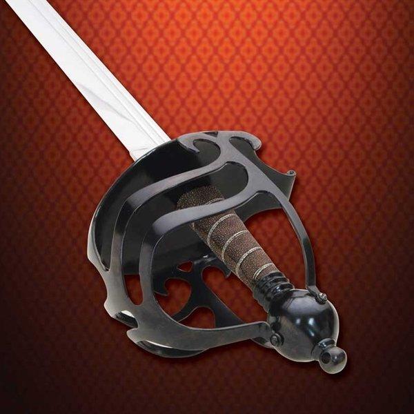 Windlass Panier Hilt épée mortuaire guerre civile anglaise