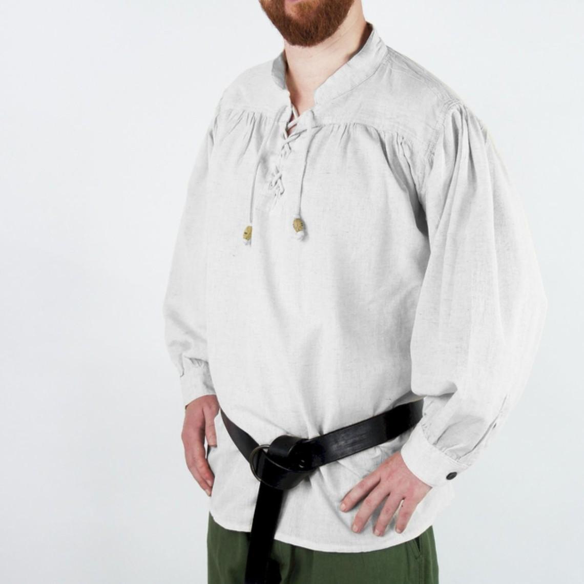 Leonardo Carbone Camisa medieval, blanca.