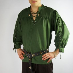 Pirate shirt with laces, green