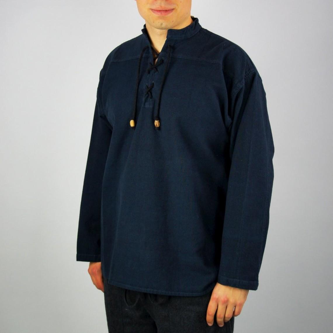 Leonardo Carbone Gewebtes Hemd, blau