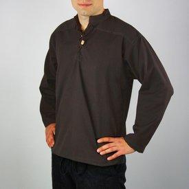 Leonardo Carbone Camicia tessuta a mano, marrone scuro