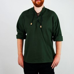 Hand-woven shirt, green