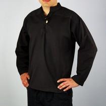 Leonardo Carbone Håndvævede skjorte, sort