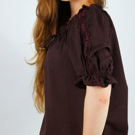 Blus Rosamund, mörkbrun