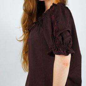 Camicetta Rosamund, marrone scuro