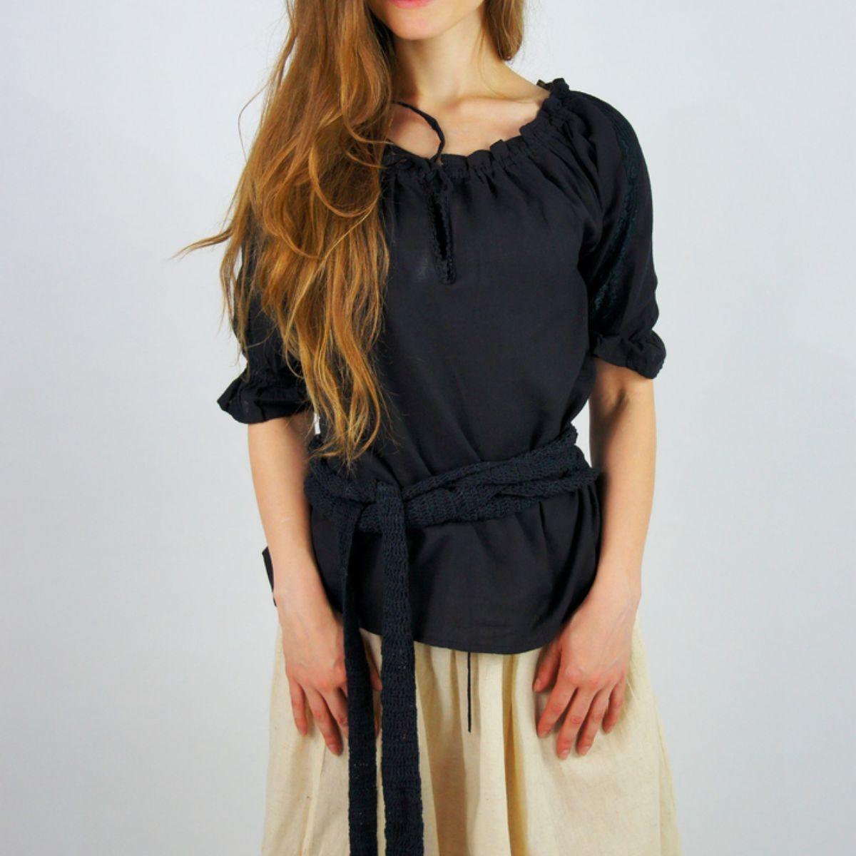 Hemd Rosamund, zwart