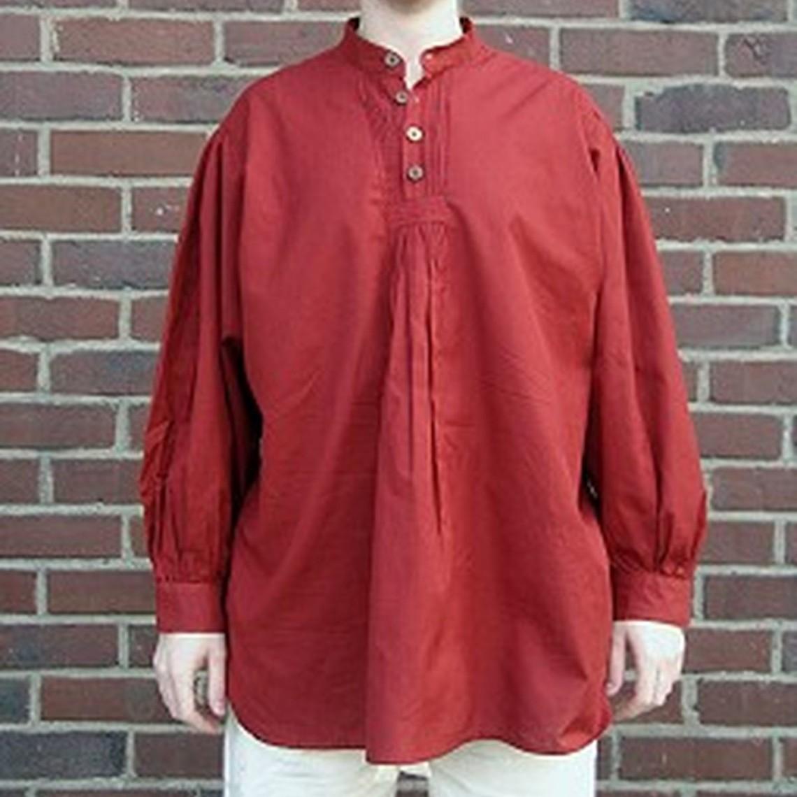 Leonardo Carbone Knoophemd, rood