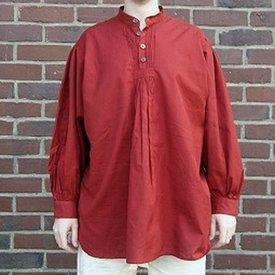 Chemise avec bouton, rouge