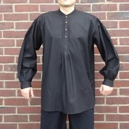 Knoophemd, zwart