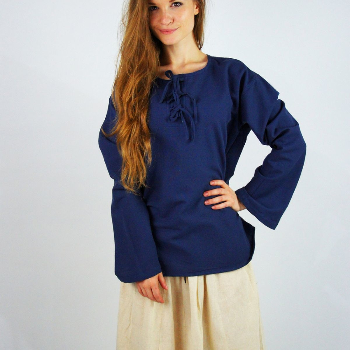 Bluse Sofia, blau