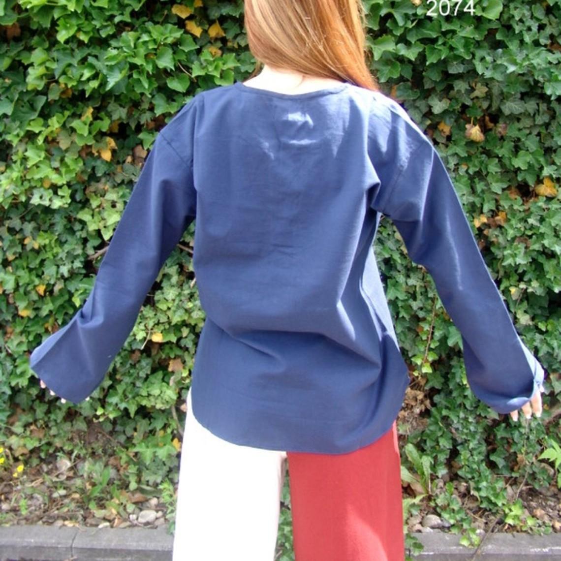 Leonardo Carbone Hemd Sofia, blauw