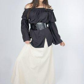 Leonardo Carbone Renæssance bluse, sort