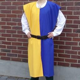 Surcoat men, yellow-blue