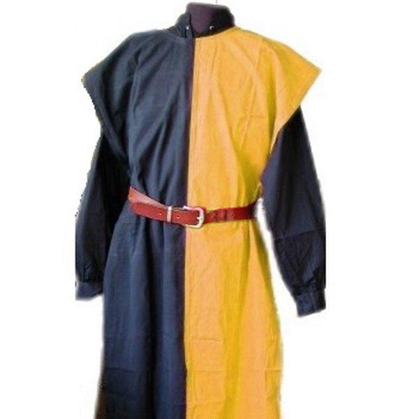 Surcoat Männer, schwarz-gelb