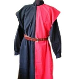 Surcoat Männer, schwarz-rot
