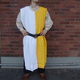 Surcoat män, vit gul