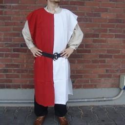 Surcoat men, white-red