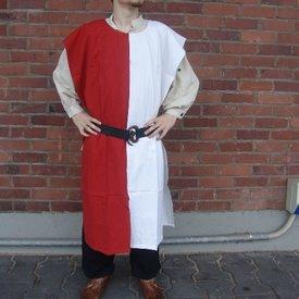 Overkleed heren, wit-rood