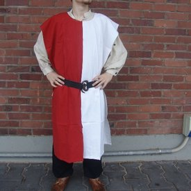 Surcoat Männer, weiß-rot