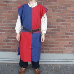 Surcoat, checked, blue-red