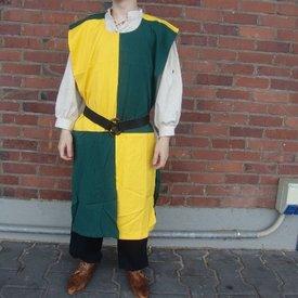 Surcoat, rutig, gulgrön