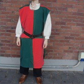 Surcoat, rutig, grön-röd