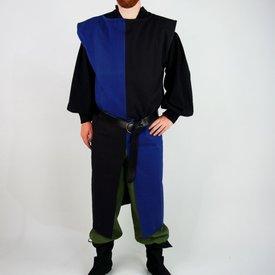 Surcot, damier, noir-bleu