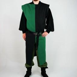 Surcoat, checked, black-green