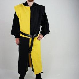Surcoat, kariert, schwarz-gelb