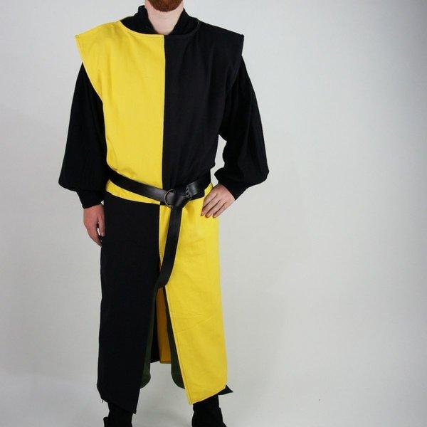 Leonardo Carbone Surcoat, kariert, schwarz-gelb