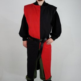 Surcoat, checked, black-red