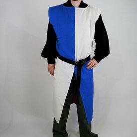 Leonardo Carbone Surcot, damier, blanc-bleu