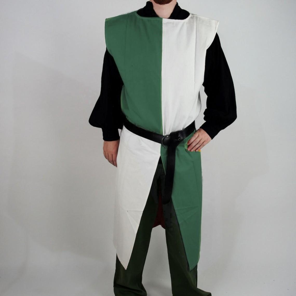 Leonardo Carbone Surcoat, kariert, weiß-grün