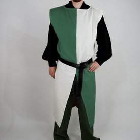 Surcoat, checked, white-green