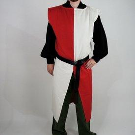 Surcoat, kariert, weiß-rot
