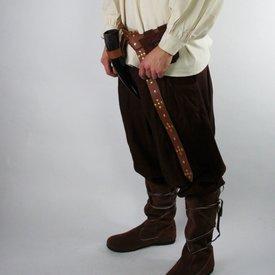 Leonardo Carbone Spodnie Faust, brązowy
