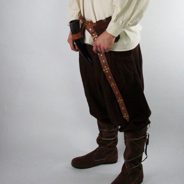 Leonardo Carbone Broek Faust, bruin